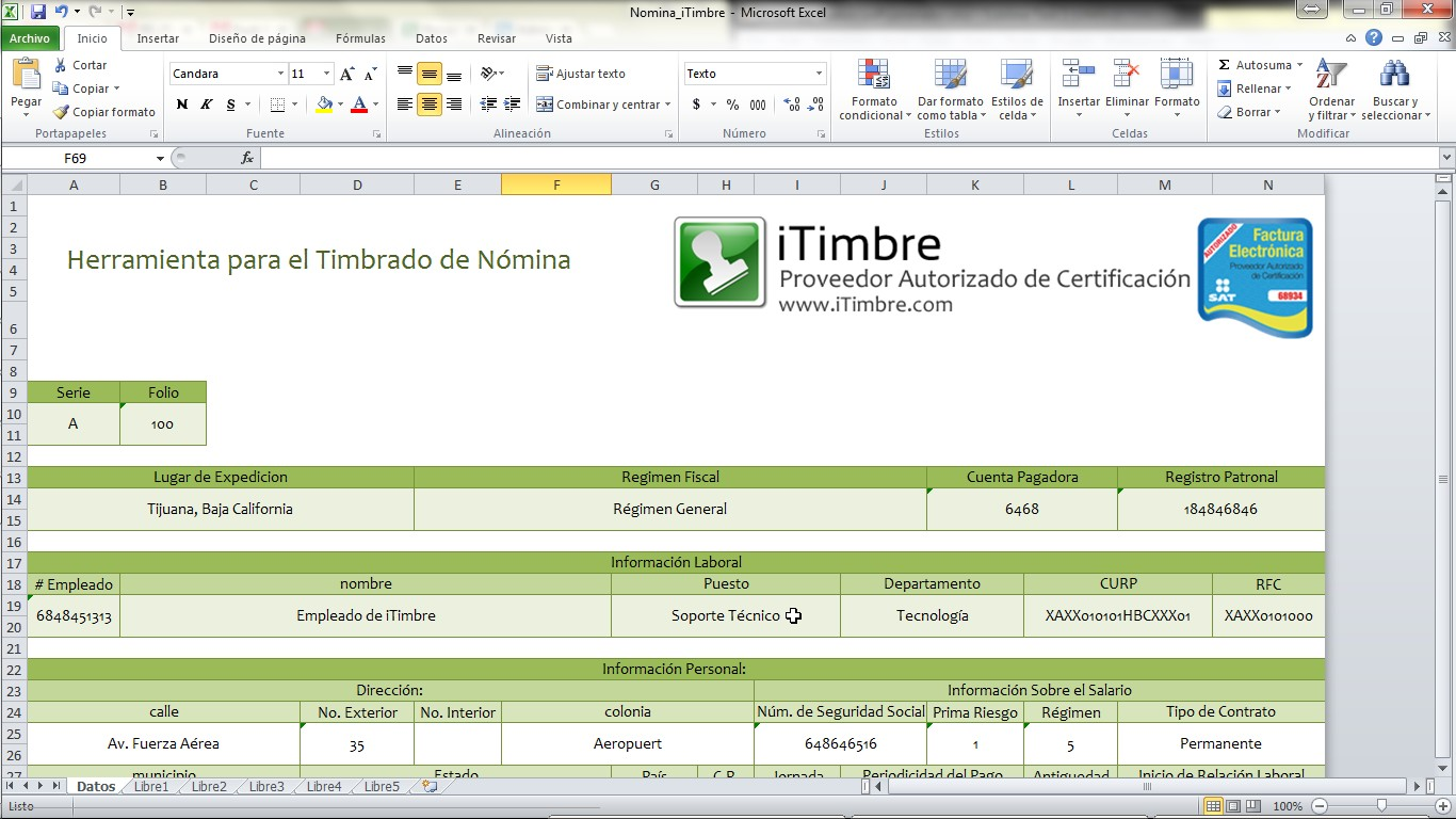 Sedbogota nomina for Nomina en excel xls